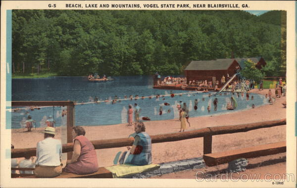 Beach Lake and Mountains Vogel State Park Blairsville