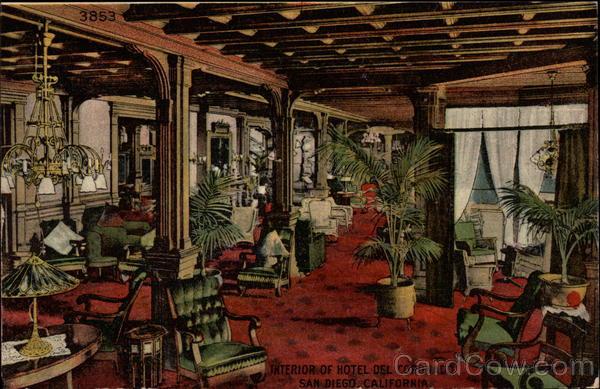 Interior of Hotel del Coronado San Diego CA