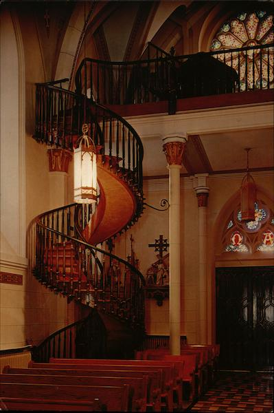Our Lady Of Light Chapel Staircase Santa Fe NM