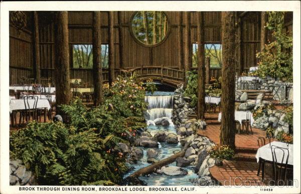 Brookdale Lodge  Brook Through Dining Room California