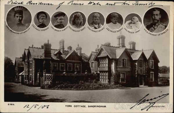 York Cottage Sandringham  Residence of Prince of Wales