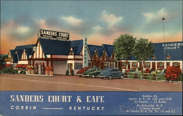 Birthplace of KFC Sanders Court  Cafe Corbin KY