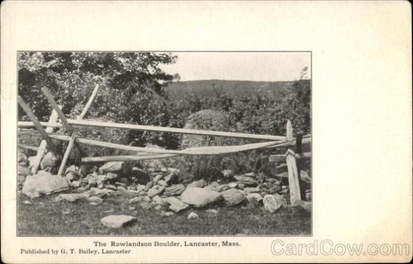 The Rowlandson Boulder Vintage Post Card