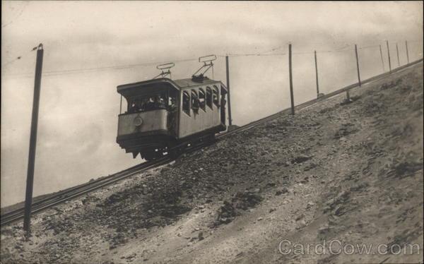 Funicular Railway  Mount Vesuvius Naples Italy