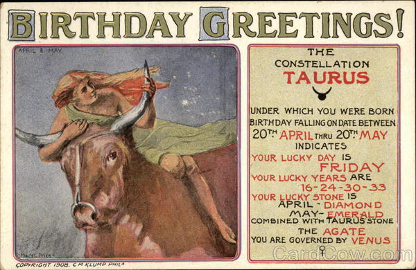 Birthday Greetings Taurus