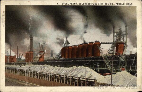 Steel Plant Colorado Fuel And Iron Co Pueblo CO