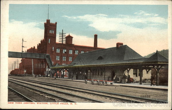 New York Central Railroad Station Little Falls NY