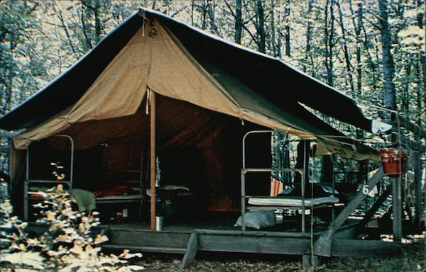 Platform Tents At Camp Birchwood Hayward Wi