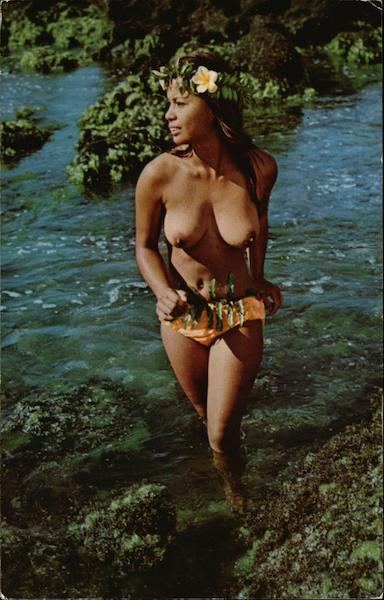 Hawaiian Water Sprite Risque  Nude