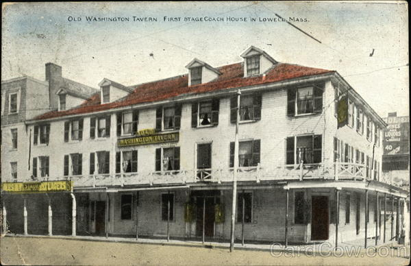 Old Washington Tavern First Stagecoach House Lowell MA