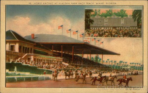 Horse Racing At Hialeah Park Race Track Miami FL