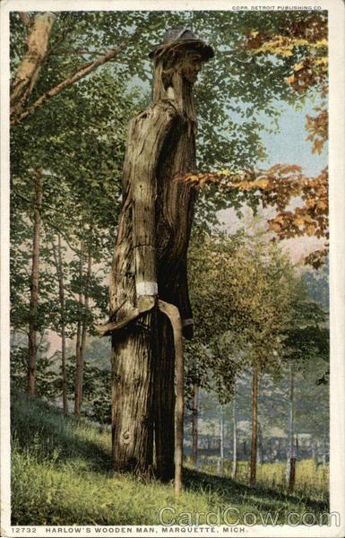 Harlows Wooden Man Marquette MI