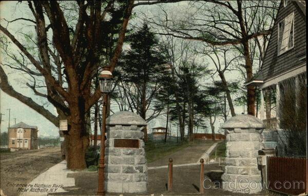 Entrance To Hudson Park New Rochelle NY