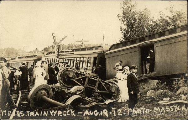 Boston  Maine Train Wreck  Aug 1912 Weirs Beach NH