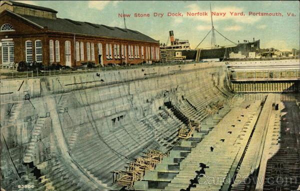 New Stone Dry Dock Norfolk Navy Yard Portsmouth VA