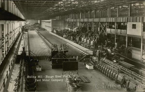 Rolling Mill  Rouge Steel Plant Ford Motor Compan Detroit MI