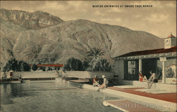 Winter Swimming at Smoke Tree Ranch Palm Springs CA