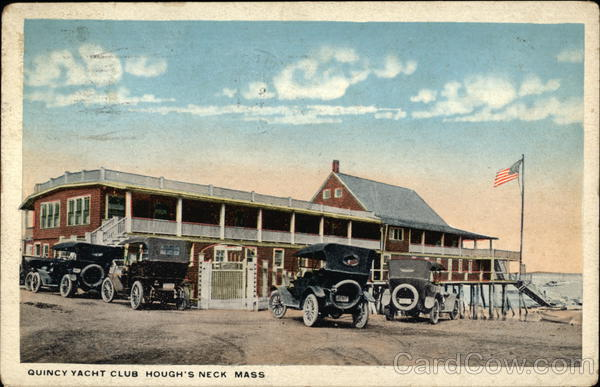 Quincy Yacht Club Houghs Neck Massachusetts Postcard