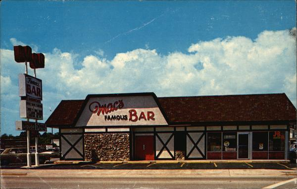 Macs Famous Bar Daytona Beach FL Postcard