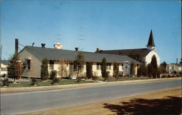 Headquarters  Chapel Fort Dix NJ Postcard