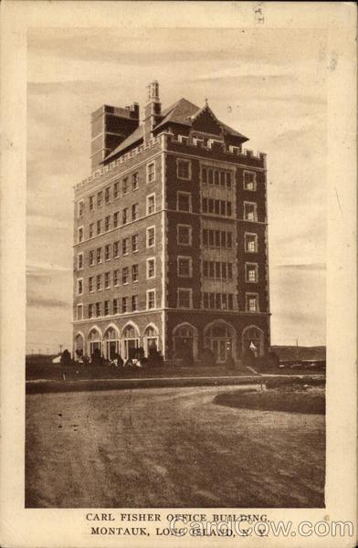 Carl Fisher Office Building Montauk NY Postcard