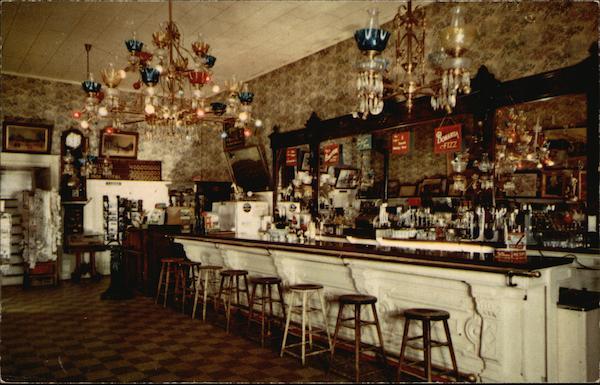 The Famous Crystal Bar Virginia City NV Postcard