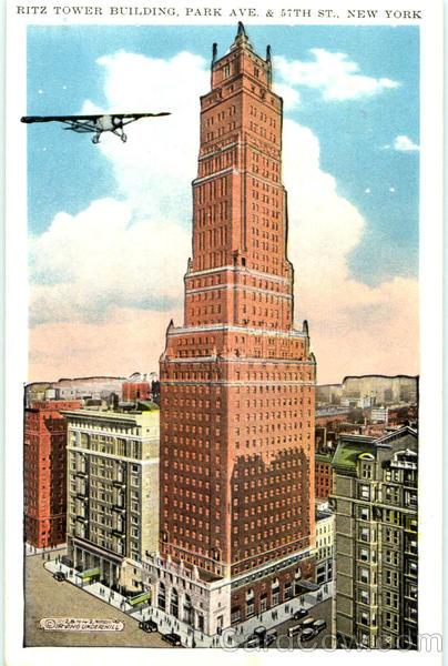 Ritz Tower Building  Park Ave  57th St New York City NY