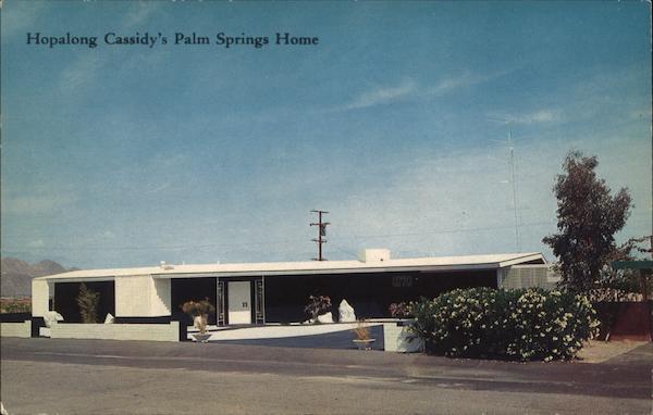 Hopalong Cassidys Home Palm Springs CA Postcard