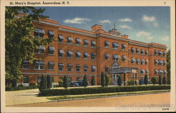 St Marys Hospital Amsterdam NY Postcard
