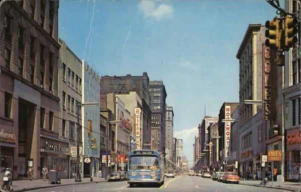 Euclid Avenue Cleveland OH Postcard