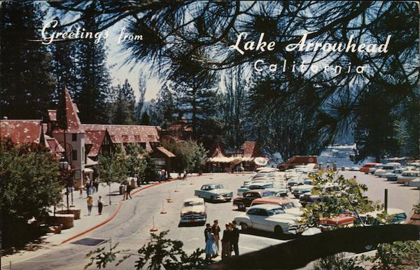 Lake Arrowhead Village Postcard