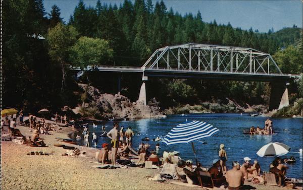Hacienda Beach Russian River Ca Postcard