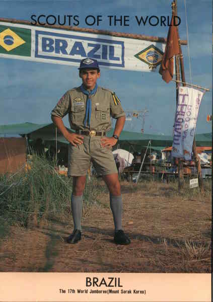 1991 Scouts of the World Brazil Postcard