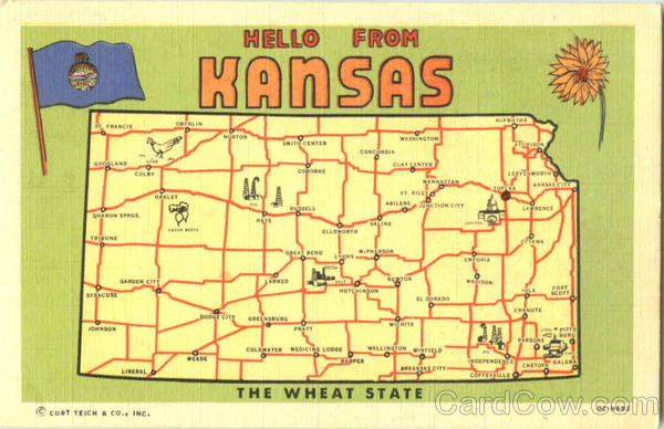 Hello From Kansas Maps