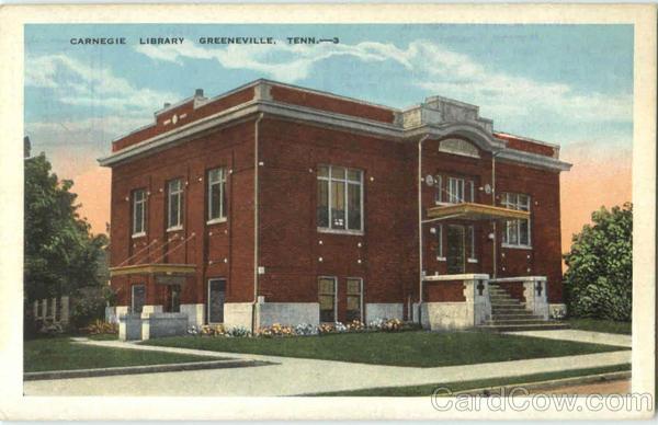 Carnegie Library Vintage Postcard