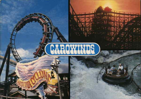 Carowinds Charlotte NC Postcard