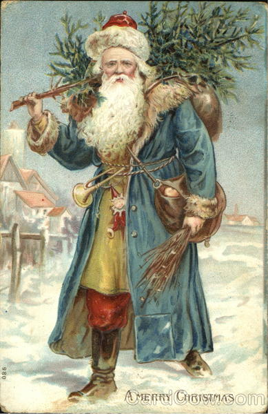German Santa With Blue Robe Santa Claus