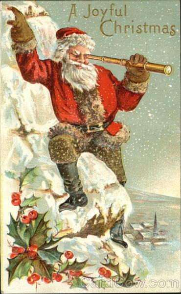 Santa With Telescope Santa Claus