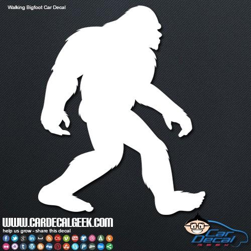 Walking Bigfoot Sasquatch Car Decal Graphic  Window Stickers