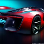 SRT Tomahawk Vision Gran Turismo Concept Rear View Sketch