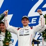 Porsche Team: Earl Bamber, Nico Huelkenberg, Nick Tandy (l-r)