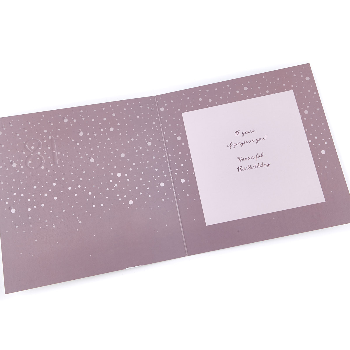 platinum collection 18th birthday card sparkle shine
