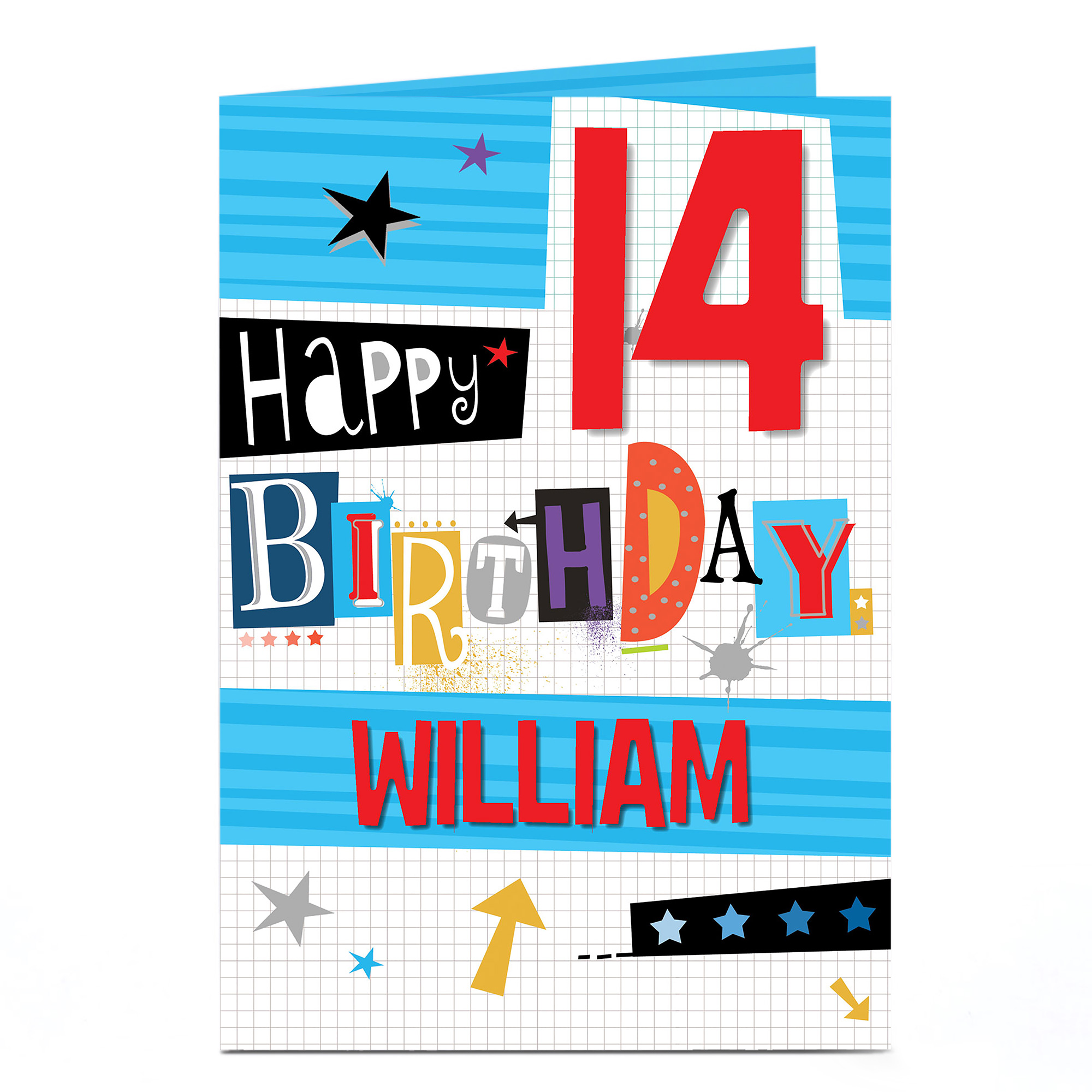 Buy Personalised Any Age Birthday Card