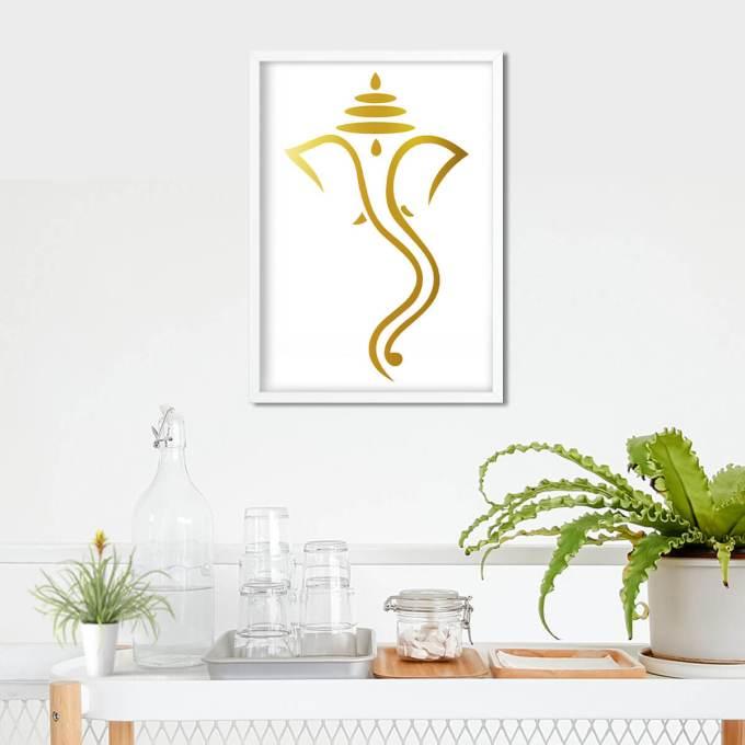 Ganesh Wall Art, Gold Foiled (GFW20)