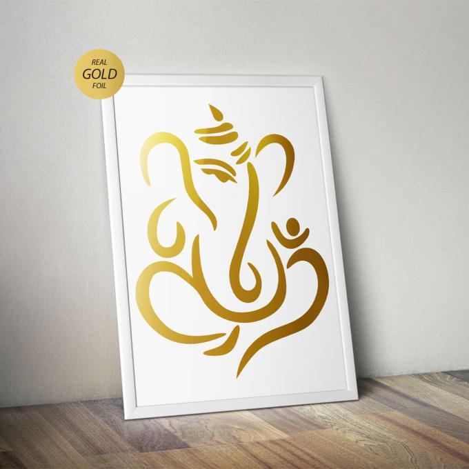 Ganesh Wall Art, Gold Foiled (GFW3)