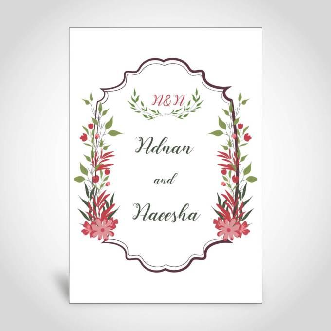 Muslim Floral Wedding Card – CFM137