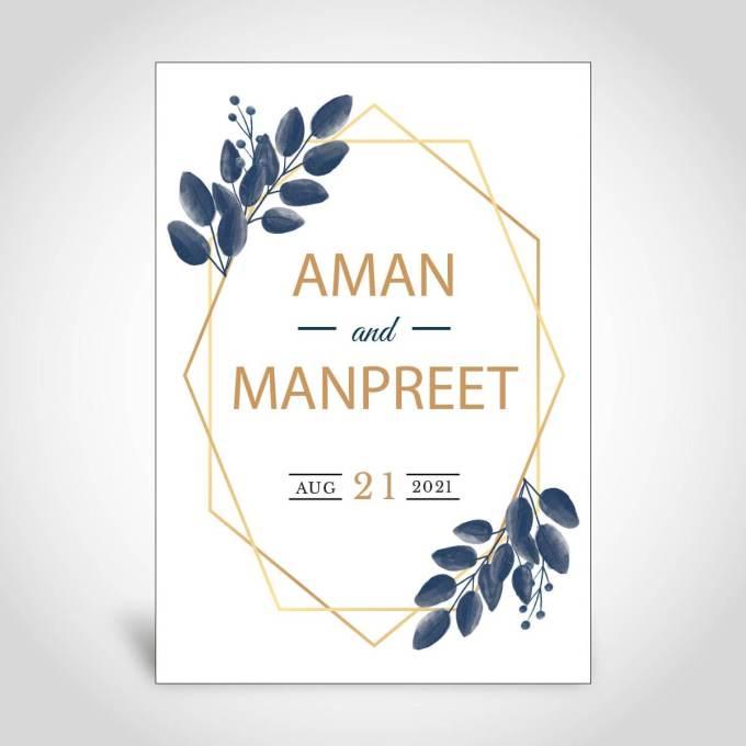 Floral Wedding Card – CFS160