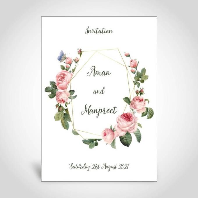 Floral Wedding Invitation Card – CFS155