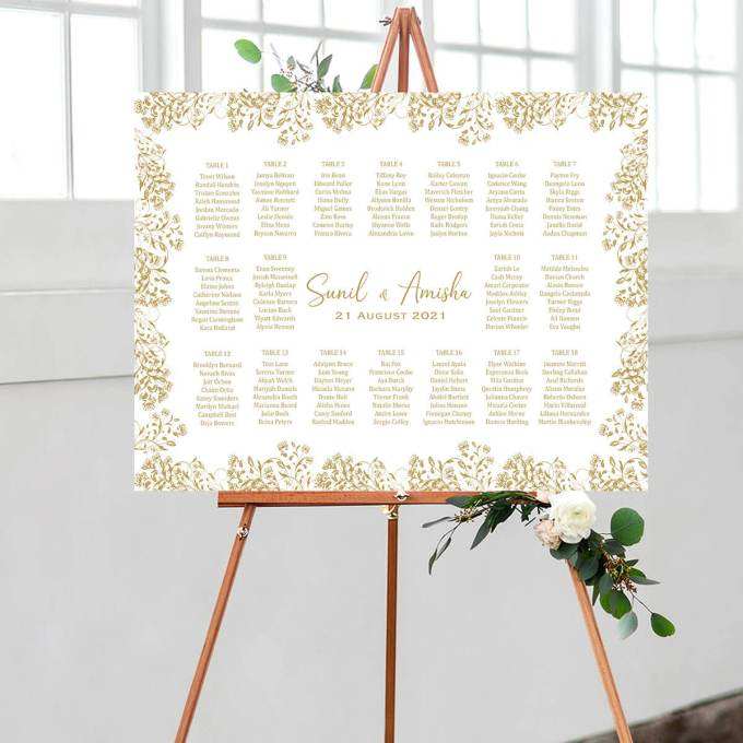 Floral Wedding Seating Chart – 9