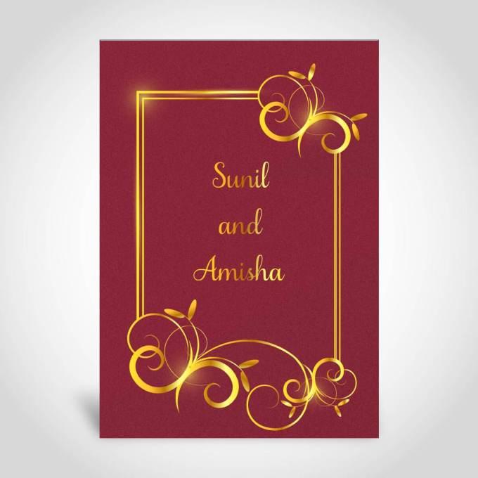 Gold Foiled Floral Wedding Invitation Card – CFK162